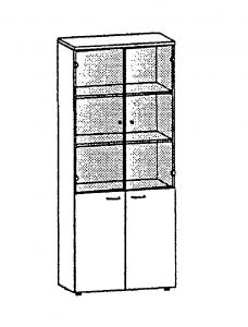 Шафа книжкова зі скляними дверцятами