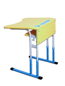 Anti-scoliotic height-adjustable table