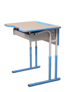 Anti-scoliotic height-adjustable table-desk