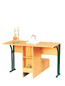 Chemistry laboratory table with sink