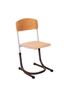 Pupil's height-adjustable chair