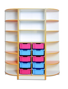 Storage cabinet for training material