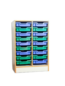 Cabinet with plastic drawers