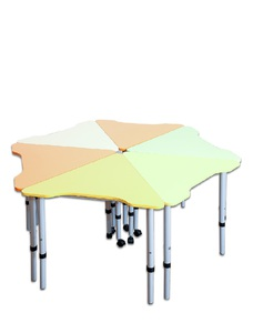 "Mobile modular height-adjustable table ""Triangle"" 60°"