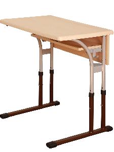 Стіл учнівський одномісний з регулюванням висоти (стільниця – WERZALIT)