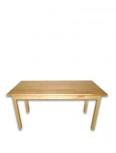 Children's rectangular table made of natural wood