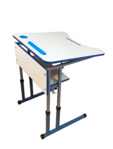 Стіл учнівський одномісний з регулюванням висоти з регулюванням кута нахилу стільниці
