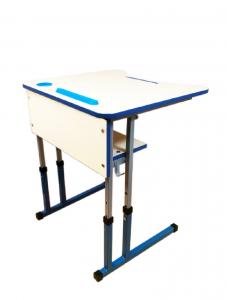 Стіл учнівський одномісний з регулюванням висоти з регулюванням кута нахилу стільниці 0-8°